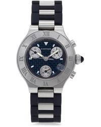 Cartier Наручные Часы Must 21 Pre-owned 32 Мм 2005-го Года - Черный