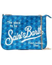 Mc2 Saint Barth Paris Siennes Logo-print Clutch Bag - Blue