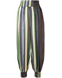 Tory Burch Striped Balloon-leg Pants - Multicolor