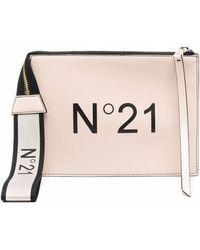 N°21 ロゴ クラッチバッグ - マルチカラー