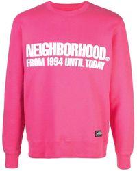 Neighborhood ロゴ スウェットシャツ - ピンク
