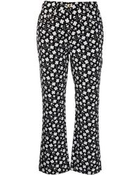 Boutique Moschino Floral-print Flared Jeans - Black