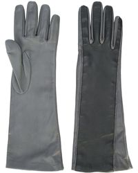 Fabiana Filippi Two-tone Gloves - Gray