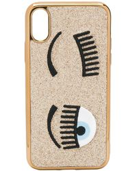 Chiara Ferragni Flirting Embroidered Iphone Xs Case - Metallic