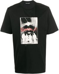 Neil Barrett T-shirt Subway con stampa - Nero