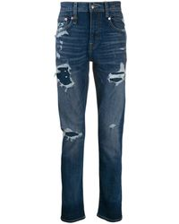 R13 - Ripped Slim-fit Jeans - Lyst