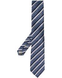 Canali Cravatta a righe - Blu