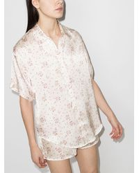 Frankie's Bikinis フローラル パジャマシャツ - マルチカラー