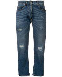 Eleventy - Distressed Straight-leg Jeans - Lyst