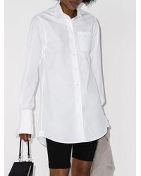 Coperni ロングライン シャツ - ホワイト