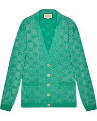 Gucci GG Jacquard Cardigan - Green