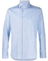 Canali Spread-collar Shirt - Blue