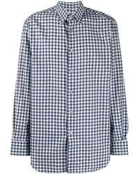 Brioni Gingham Print Shirt - Blue