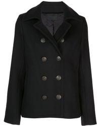 Nili Lotan Double Breasted Coat - Black