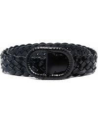 Totême Woven Braided Leather Belt - Black