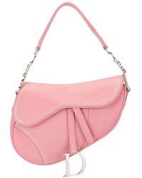 Dior Bolso de mano Limited Edition Saddle - Rosa