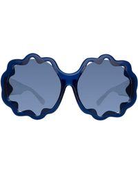 Linda Farrow Gafas de sol Markus Lupfer 1 C4 - Azul