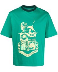 Wales Bonner プリント Tシャツ - グリーン
