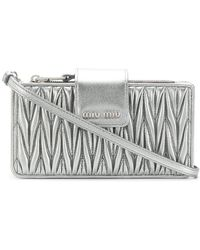 Miu Miu - Chevron Pleated Satchel - Lyst
