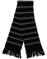 Marni ストライプ スカーフ - ブラック