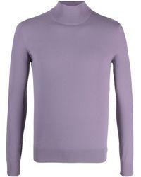 Bottega Veneta Джемпер Techno Skin С Высоким Воротником - Пурпурный