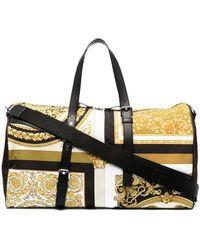 Versace Reisetasche mit Barock-Print - Gelb