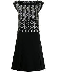 Louis Vuitton プレオウンド ボートネック ドレス - ブラック