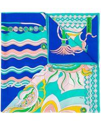 Emilio Pucci Badea Print Scarf - Blue
