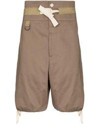 Nicholas Daley Drawstring-cuff Chino Shorts - Brown