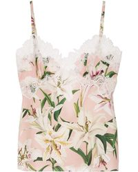 Dolce & Gabbana Hemd Met Bloemenprint - Roze