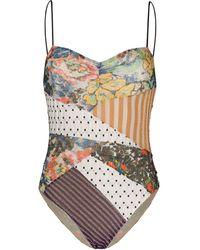 Missoni Patchwork Print Swim Suit - Black
