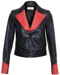 Saint Laurent Studded Biker Jacket - Многоцветный