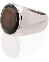 Tom Wood Ring Met Parelmoer - Zwart