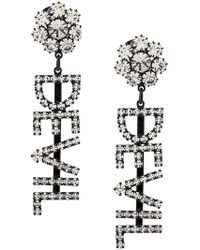 e7976e695 Ashley Williams Devil Embellished Earrings