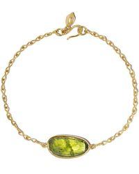 Pippa Small 18kt Yellow Gold Peridot Bracelet - Metallic