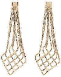 Rosantica Aquilone Drop Chain Earrings - Metallic
