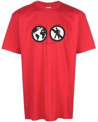 Supreme T-shirt Met Tekst - Rood