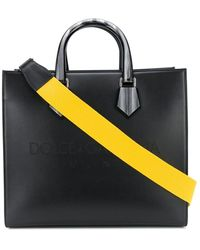 Dolce & Gabbana Logo Embossed Tote - Black