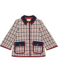 Gucci Tweed Check Jacket - ブルー