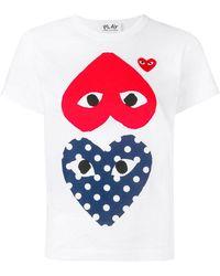Play Comme des Garçons - Heart Eyes T-shirt - Lyst