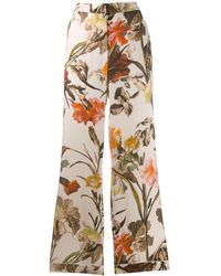 Off-White c/o Virgil Abloh Floral-print Pyjama Style Trousers - Multicolour