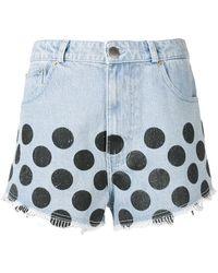 House of Holland - Polka-dot Denim Shorts - Lyst