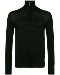 Prada - Half Zip Knitted Jumper - Lyst