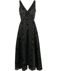 Harris Wharf London フローラル ドレス - ブラック