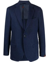 Mp Massimo Piombo デニム シングルジャケット - ブルー