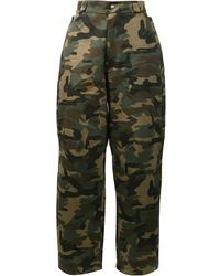 Hood By Air Camouflage Print Trousers - Green