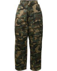 Hood By Air Pantalones con estampado de camuflaje - Verde