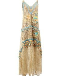 Peter Pilotto - Embroidered Dress - Lyst
