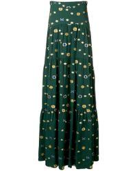 Peter Pilotto - Floral-jacquard Crepe Maxi Skirt - Lyst