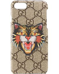 Gucci Angry-cat Iphone 7 Case - Brown